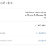 Контакты головного офиса Тинькофф